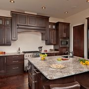 dark wood marble kitchen